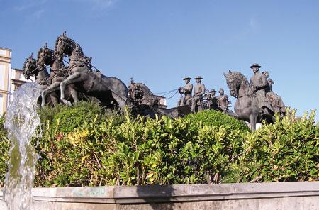 Статуя Картезианских лошадей, фото